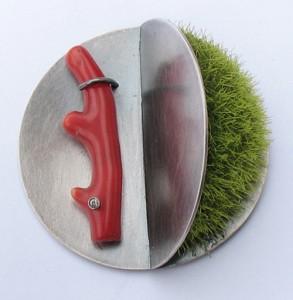 Moss Brooch