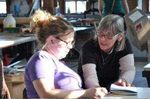 Student Kelly McCafferty with instructor Julie Leonard