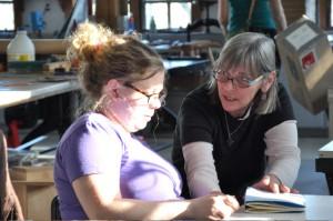 Student Kelly McCafferty with instructor Julie Leonard