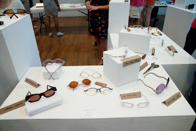 Glasses made by students in a workshop taught by Deb Stoner