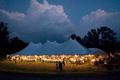 penland auction tent