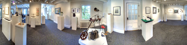 panormic image of the Penland core show
