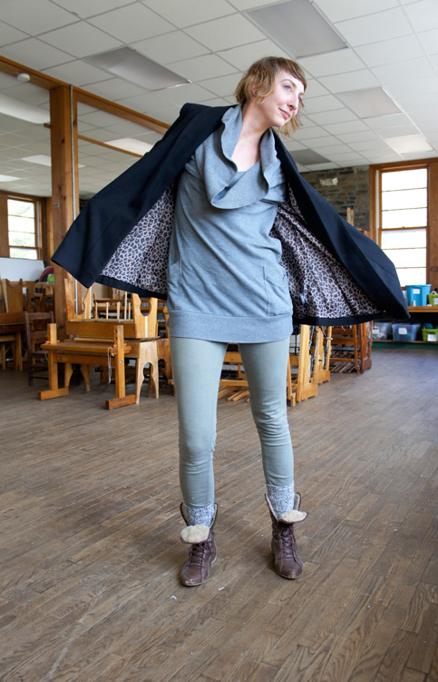 Textiles student Casara Logan