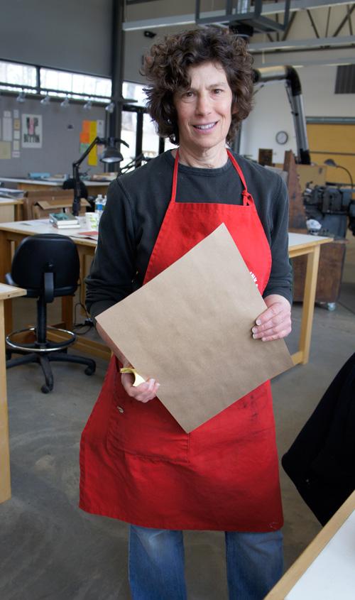 Letterpress student Claudia Smigrod