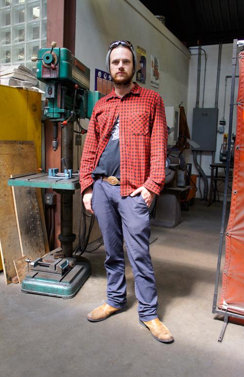 Metals student Evan Morgan