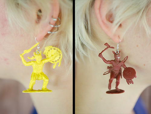 found object earrings