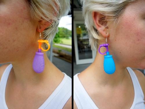 More found object earrings.