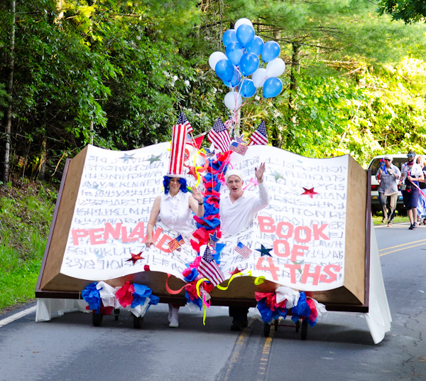 July 4 parade at Penland School of Crafts