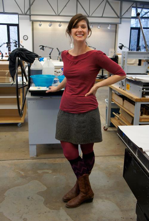 Printmaker Erika Adams
