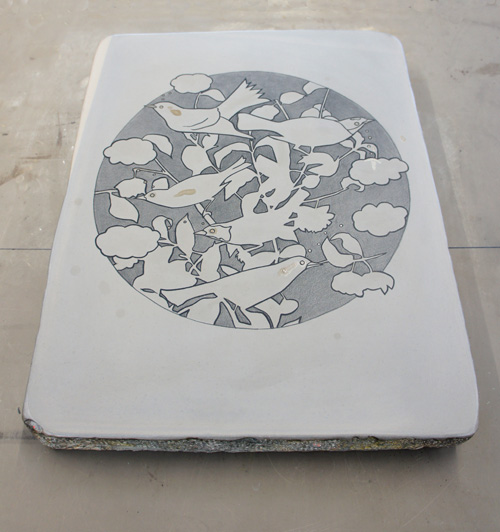 Erika Adams lithography stone