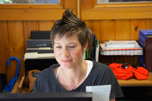Penland's office coordinator Abigail McKinney