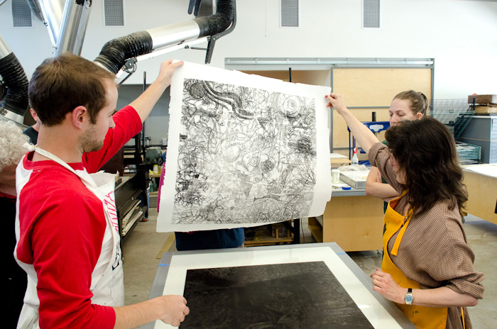 trace monotype at Penland School