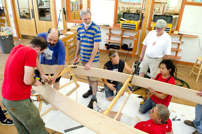boat building at Penland School
