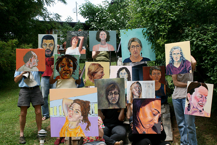 Beverly McIver's self-portrait class at Penland School