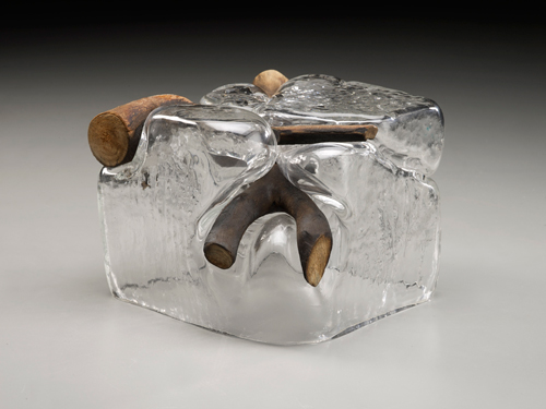 Dorothy Gill Barnes, branch, glass, tree banch, 5 x 7 x 6 inches