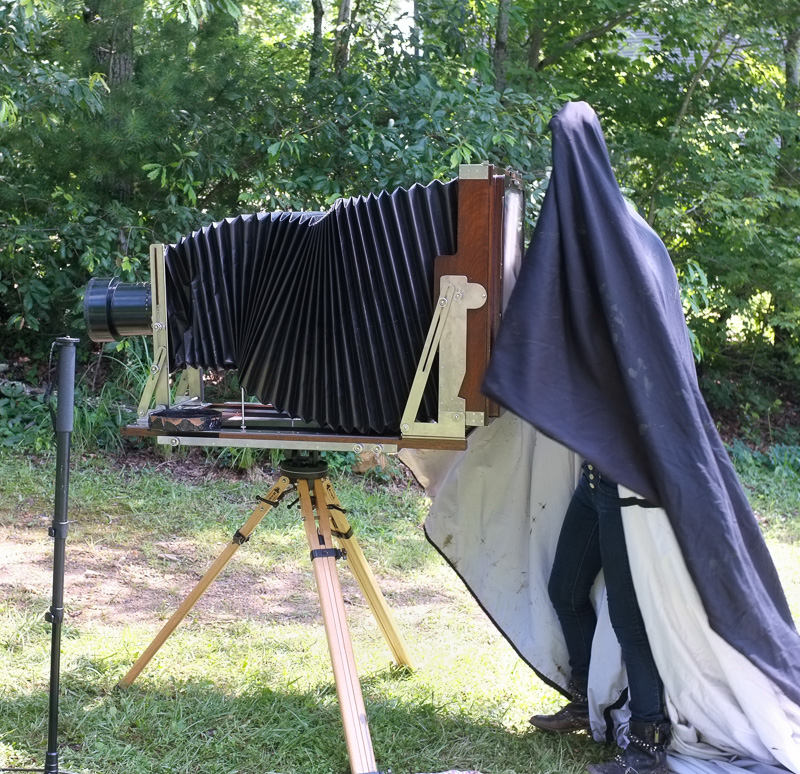 large format camera at Penland School
