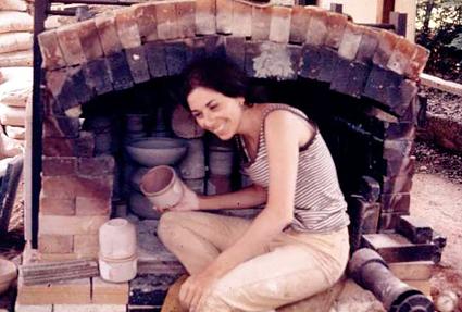 Angela at Penland, 1970