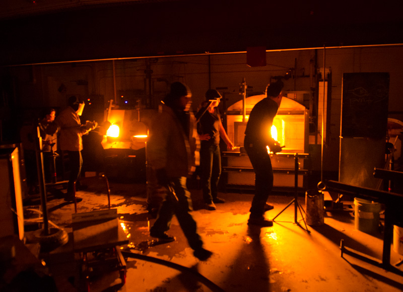The Penland Glass studio