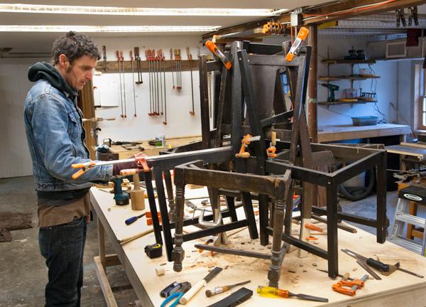 Tom Shields in the studio