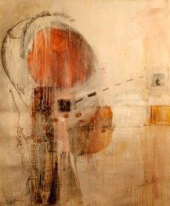 Jim Adams, Looking Back, acrylic, graphite, canvas, 60 x 48 inches