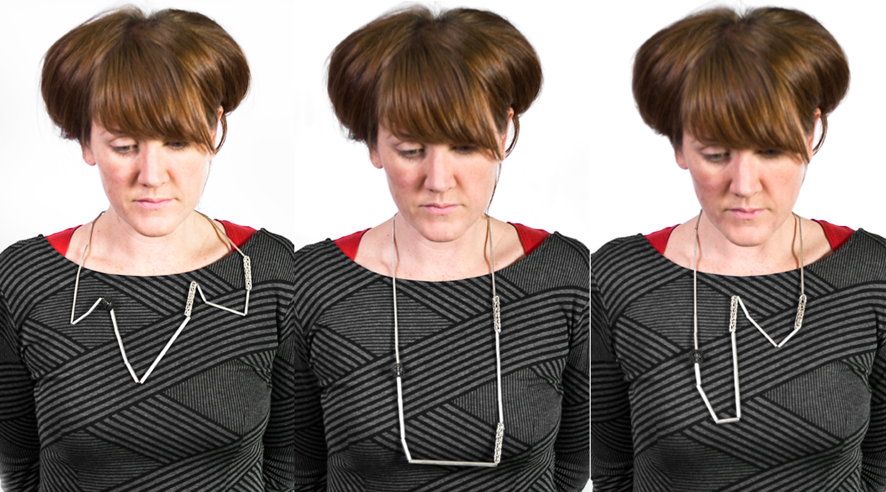 Sarah Holden wearing her Do-It-Yourself necklace. Image courtesy of the artist.