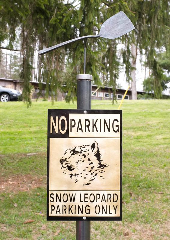no parking sign at Penland